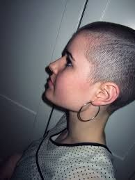 Image result for girl buzz cut