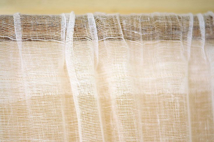 Cheesecloth Curtains Glue No Sew Tape And Stitch On Top