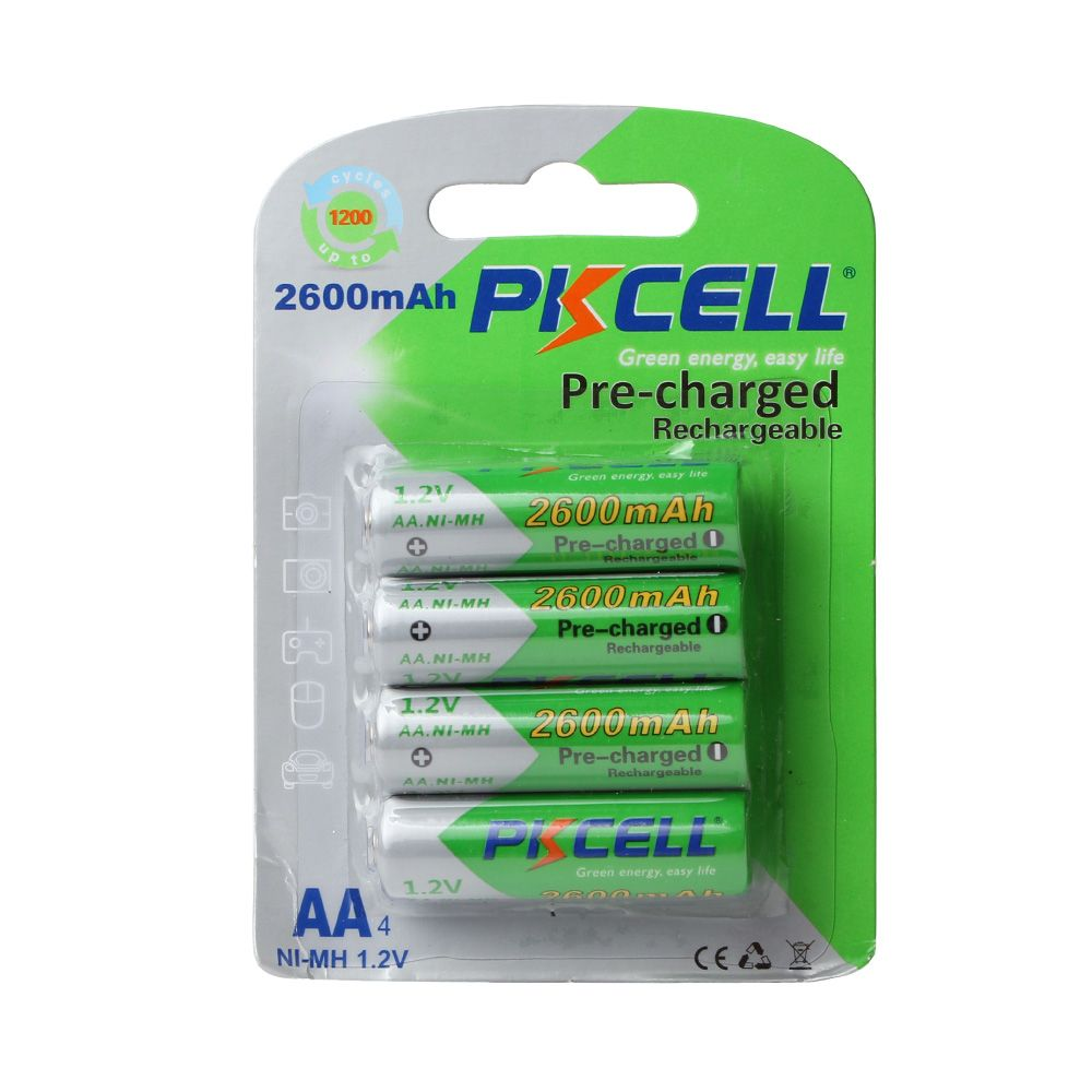 4pcs Card Pkcell Aa Batteries 1 2v Ni Mh 2600mah 2a Nimh 1 2 Volt Aa Rechargeable Battery Baterias Bateria Batteries Read More At Electronic Pro Market Http