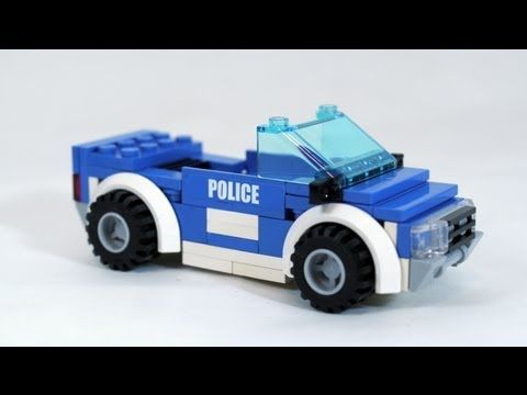 How To Build A Lego Police Car Youtube Custom Lego Instructions