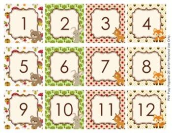 Woodland Forest Animals Classroom Decor Monthly Calendar Numbers Calendar Numbers Classroom Decor Camping Theme Classroom