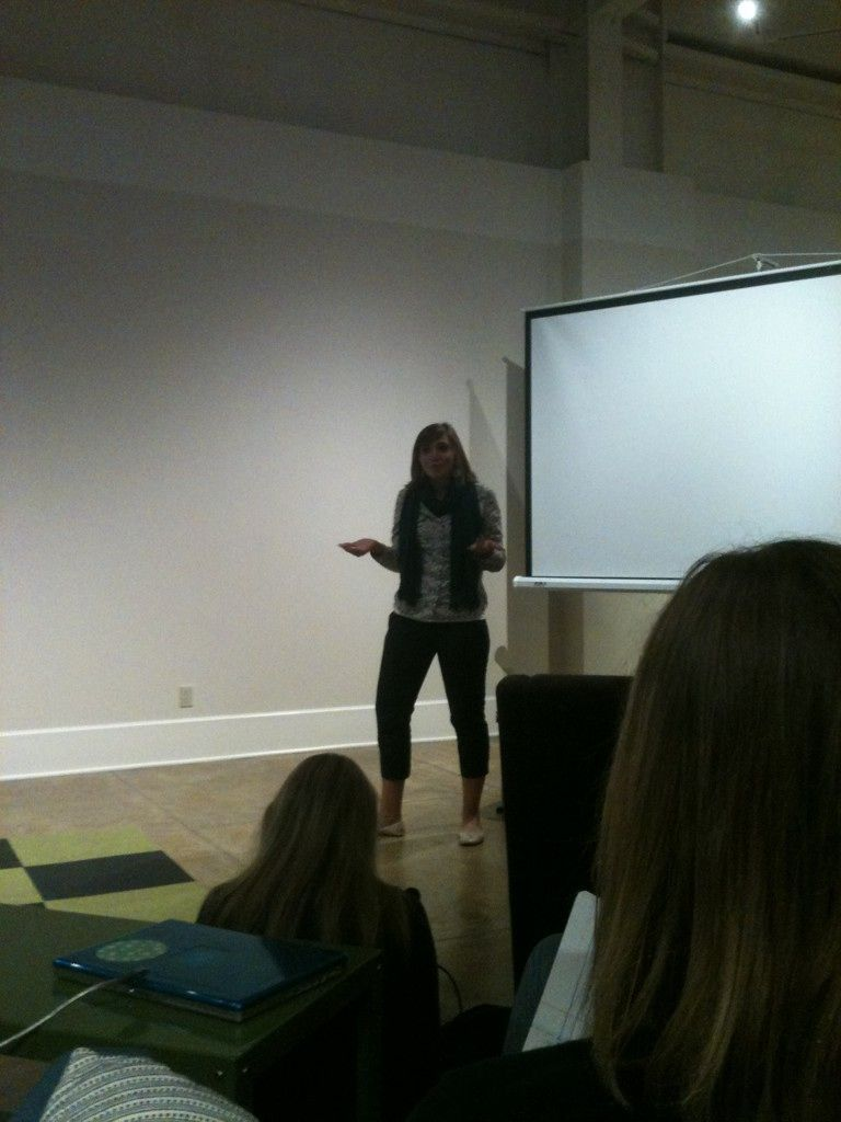Mizzou student Aly Reyes presents a business idea in the Start Up Columbia Weekend hosted by the League of Innovators