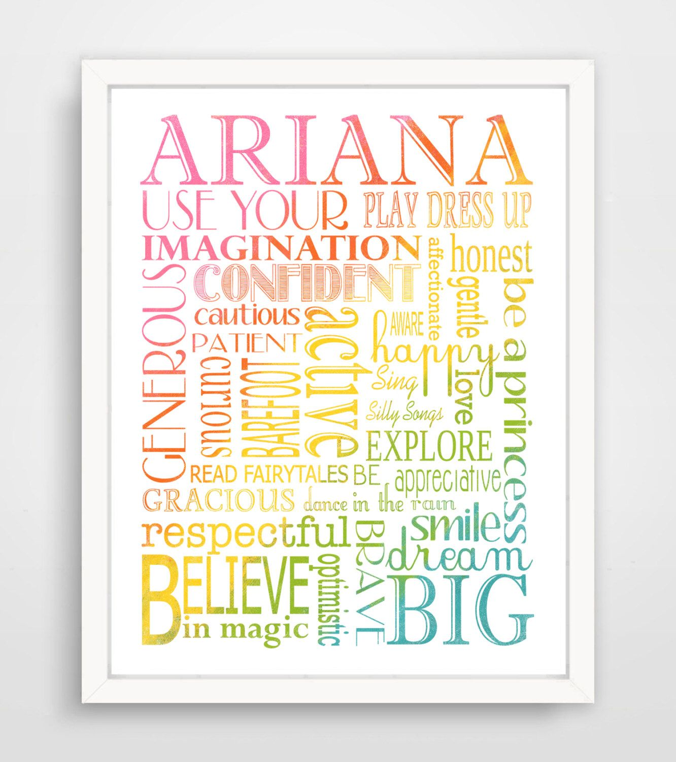 Custom Name Wall Art, Girls Rule, Girl Rules, Be a Princess, Subway ...