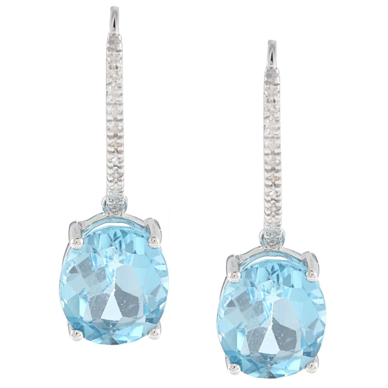 Viducci 10k Gold Gemstone and /8ct TDW Diamond Earrings