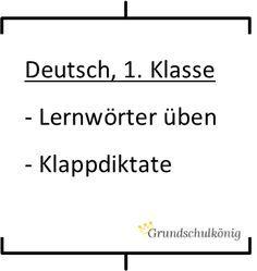 Kostenlose Arbeitsblätter für Deutsch in der 1. Klasse zum Thema Er ...