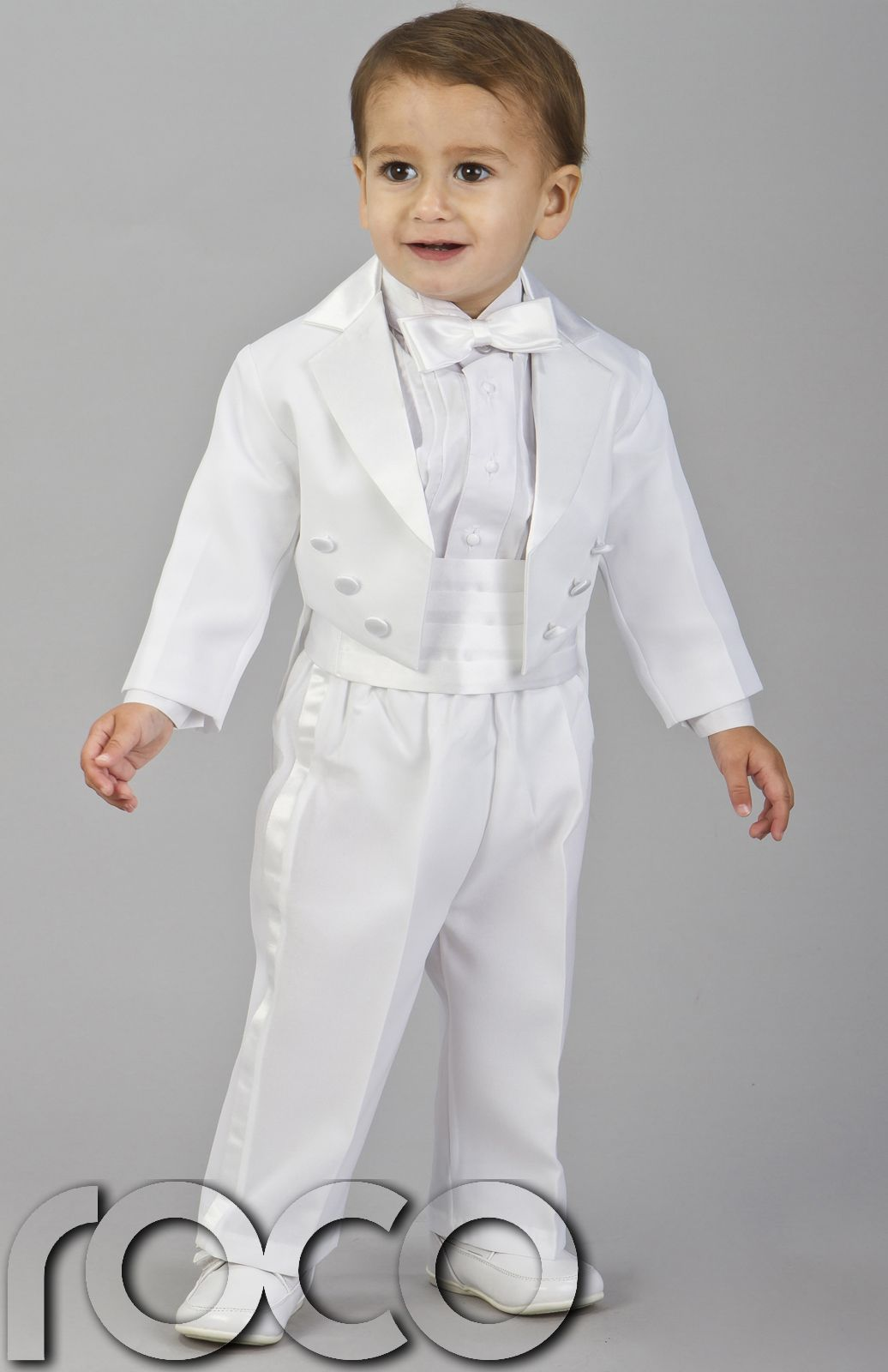 Details about BOYS WHITE TUXEDO CRUISE DINNER WEDDING PAGEBOY TAIL ...