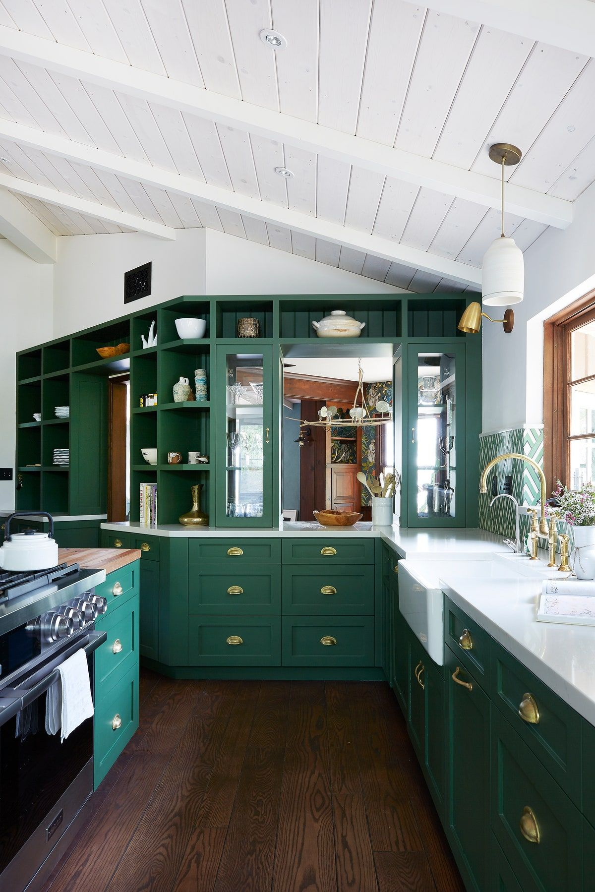Green Kitchens Are Having A Moment In 2020 Kitchen Color Trends Green Kitchen Dark Green Kitchen