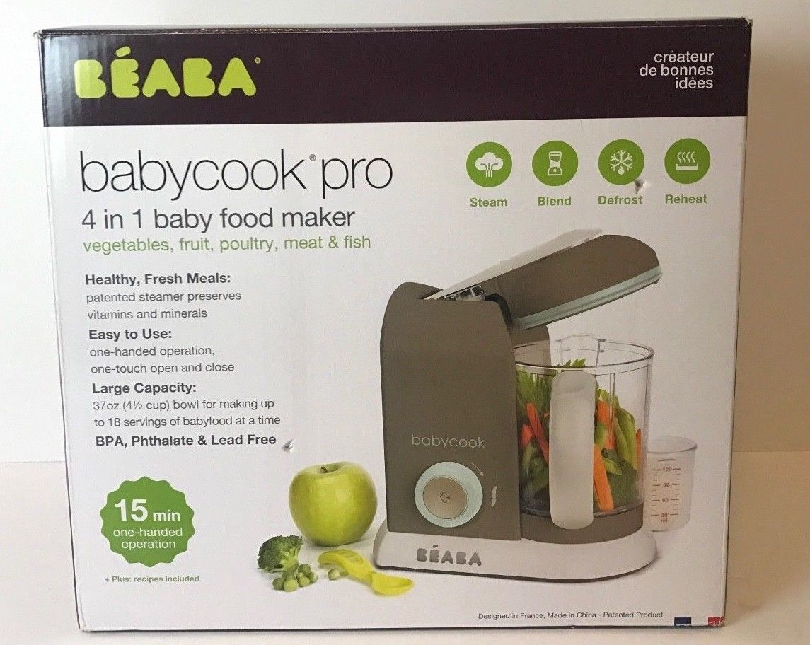 84cebdb7ec498 Food Grinders and Blenders 32866  Beaba Babycook Pro Baby Food Maker  Processes Cooks Latte Mint Dishwasher Safe -  BUY IT NOW ONLY   115 on eBay!
