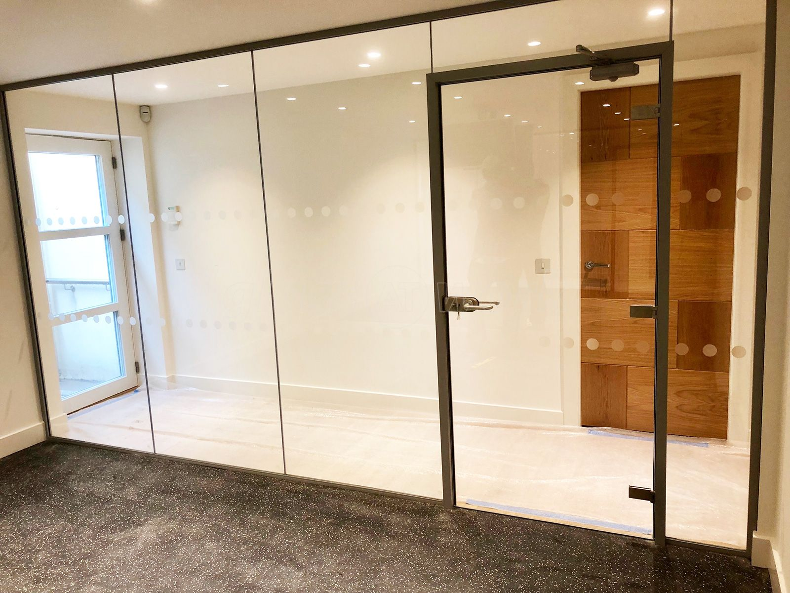 30 Minutes Fire Rated Glass Partitioning Wall And Door For