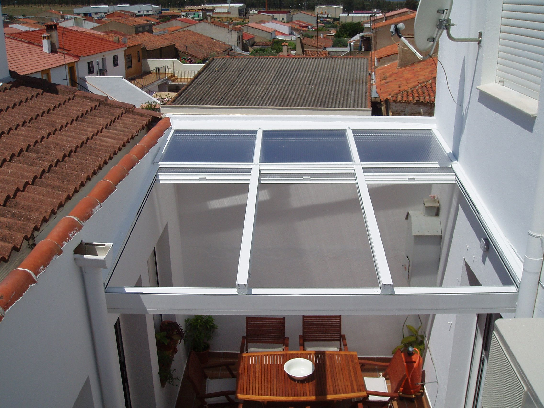Fabricante techos moviles cerramientos para terrazas techos deslizantes y corredizos madrid - Techos moviles para terrazas ...