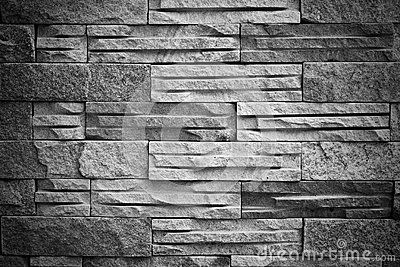 Black White Brick Block Texture