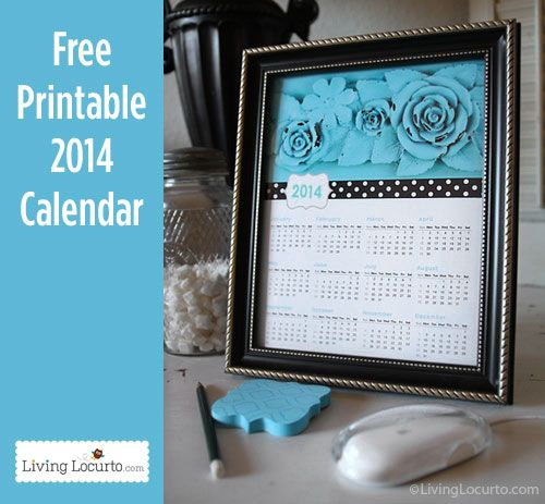 I love this 2014 Free Printable Calendar! Download it for free at LivingLocurto.com