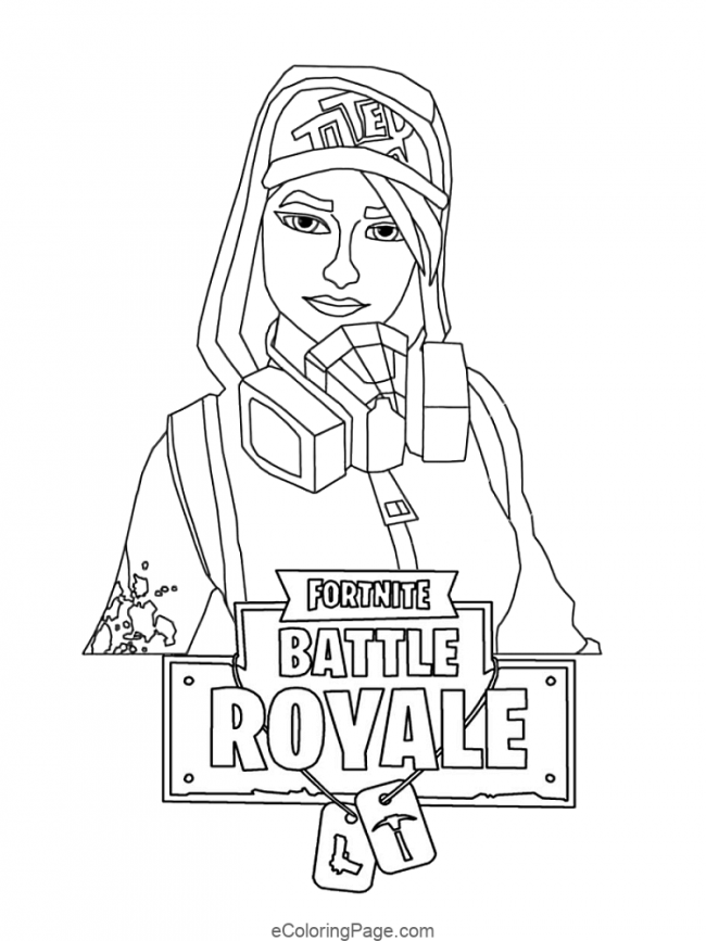 Fortnite Girl Skin Printable Coloring Page Cartoon Coloring Pages Coloring Pages For Boys Coloring Pages
