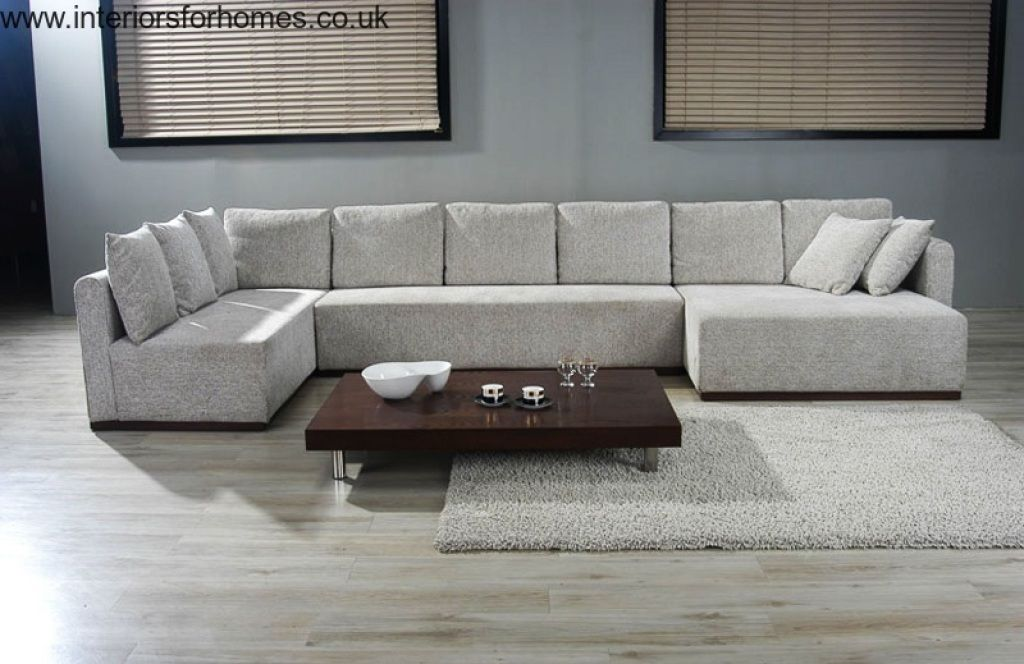 Double Chaise Sectional Sofa Large U Shaped Sectionals