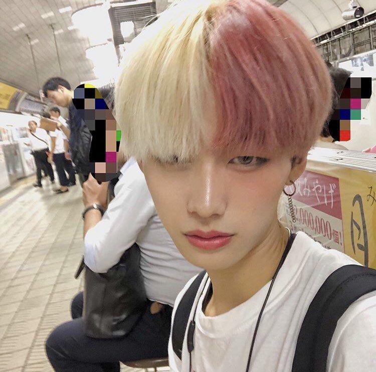 Ulzzang Boy Pink Hair In 2020 Half Dyed Hair Alternative Hair Aesthetic Hair