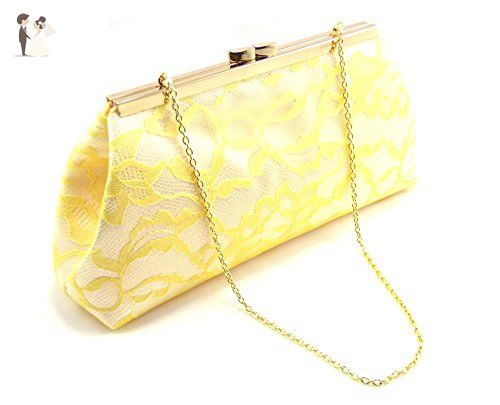 White And Sunshine Yellow Bridal Clutch Bridesmaid Gift Mother Of The Bride