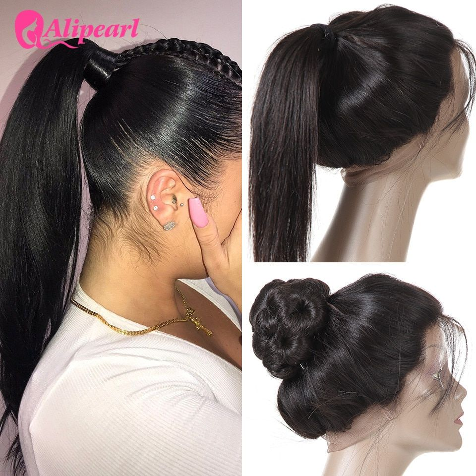 Human Hair Weaves Alipearl Hair 360 Lace Frontal With Bundles Pre Plucked With Baby Hair Brazilian Hair Weave Straight Remy Hair With 360 Frontal High Quality And Inexpensive