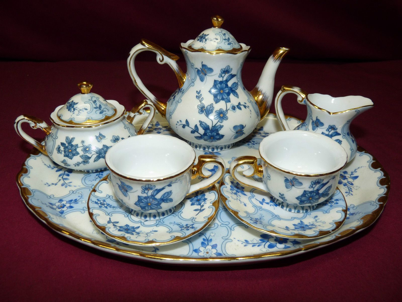 Vintage Fine China Miniature Tea Set Sold Vintage