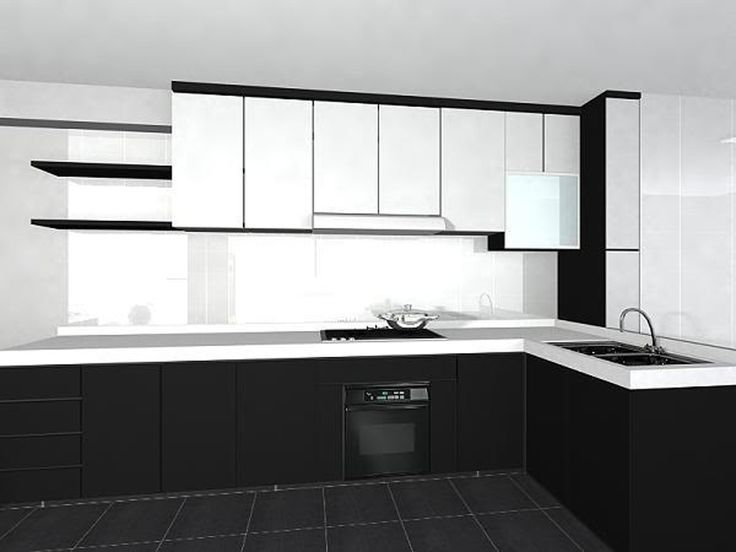 Image result for black and white kitchen | TỦ BẾP HIỆN ĐẠI ...