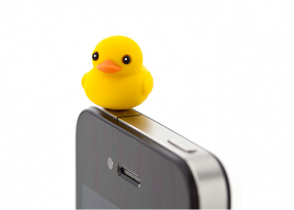 la protection de votre entrée jack s'habille en lovely duck.