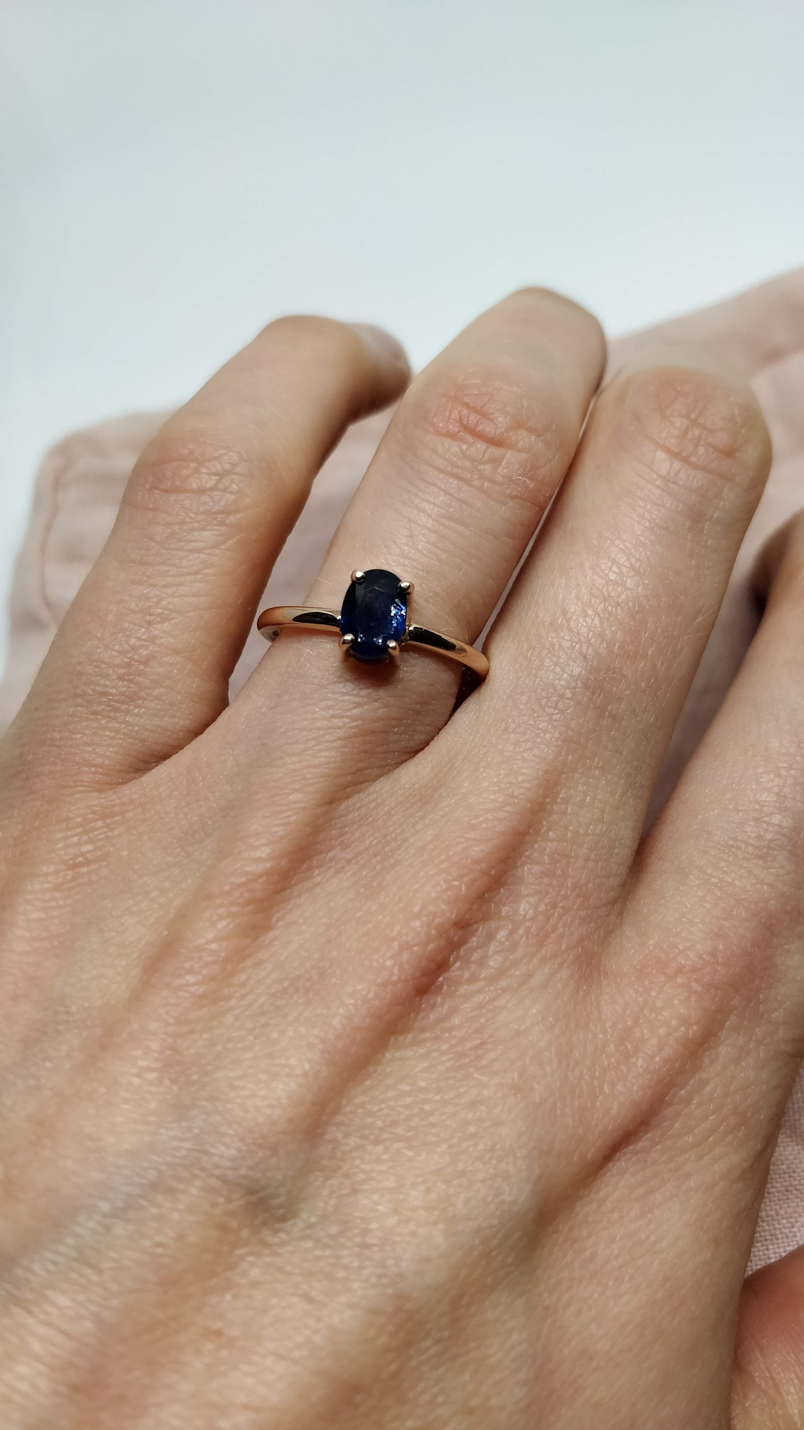 Blue Sapphire Rose Gold Engagement Ring Blue Engagement Ring Sapphire Engagement Ring Blue Flower Diamond Engagement Ring