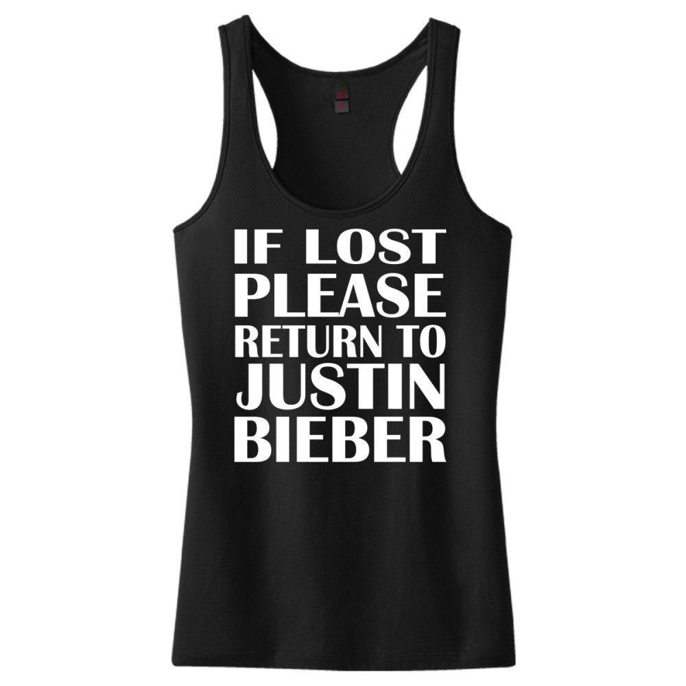 If Lost Please Return To Justin Bieber Women's Racerback Tank Top