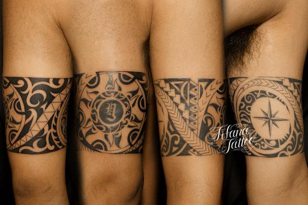 腕一周のトライバルタトゥー ギャラリー Tifana Tattoo 東京 渋谷のタトゥースタジオ 腕の刺青 手の入れ墨 トライバル タトゥー