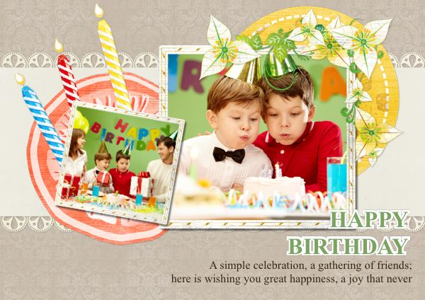 Here is a beautifully designed  #birthdaycard, wishing you a great birthday happiness.