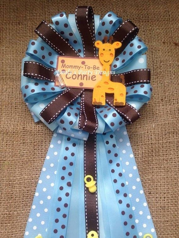 Mommy To Be Baby Shower Giraffe For A Boy Or Girl Baby Shower