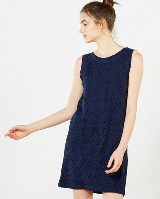 082e93887 Vestido de mujer Sfera azul marino de encaje