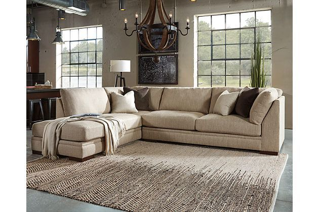 Malakoff 2 piece sectional by ashley homestore tan for Ashley room planner