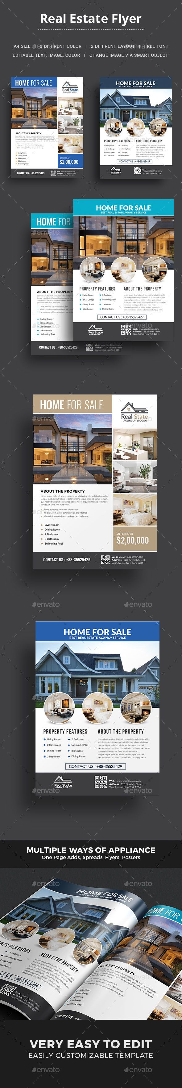 real estate flyer ad design marketing and promotion real estate flyer template