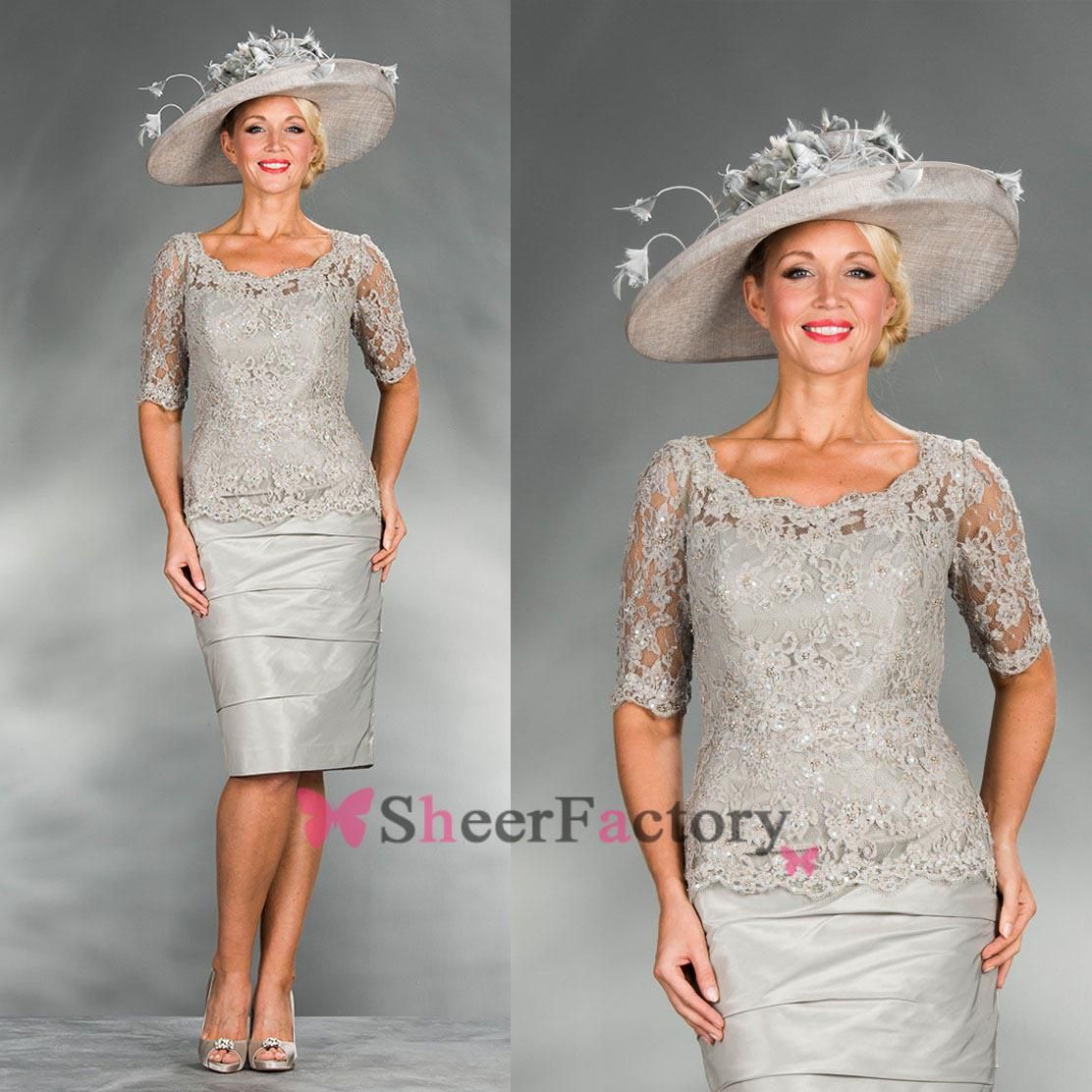 Wholesale mother of the bride dresses buy silver plus size