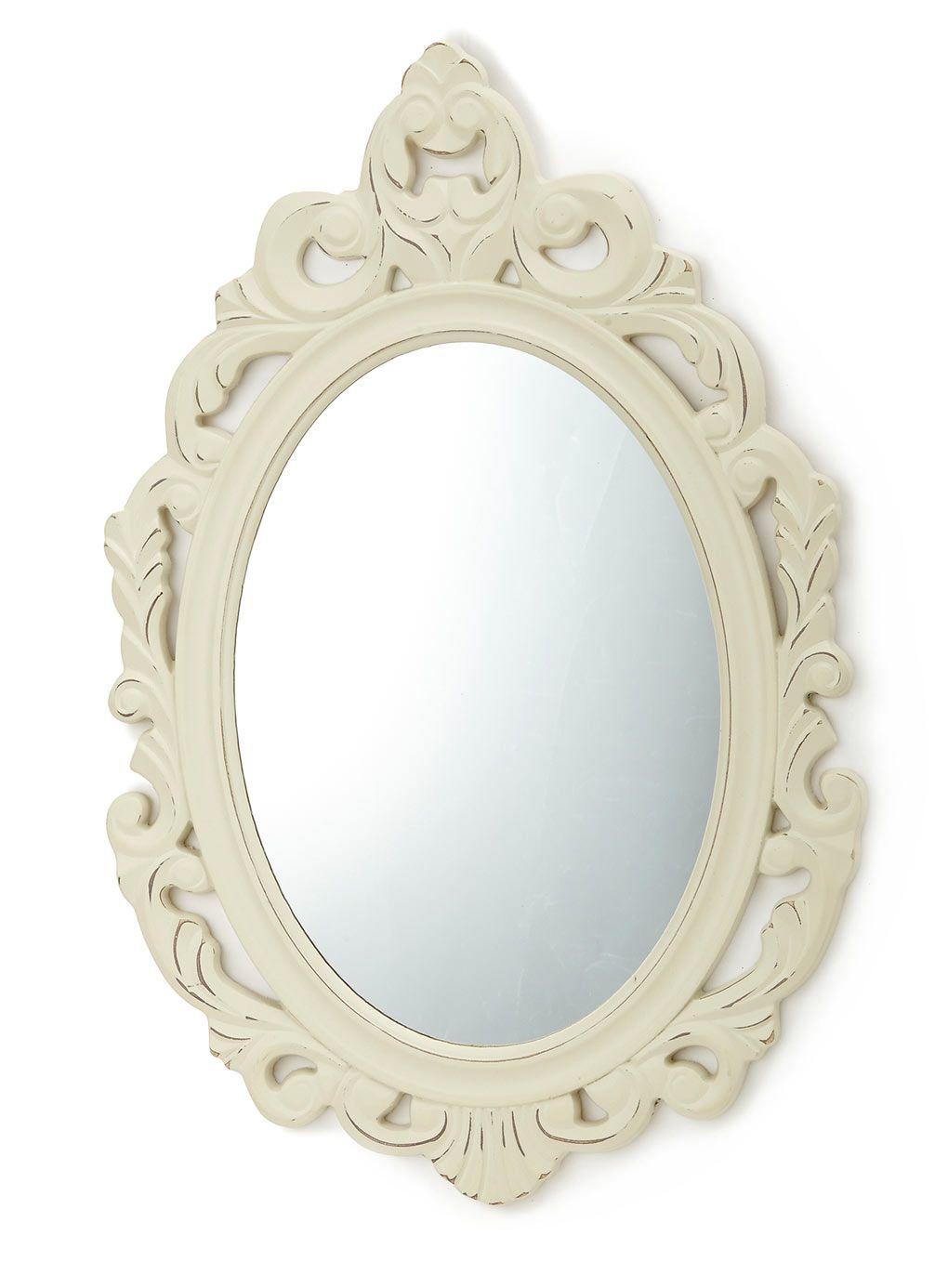 Cream vintage scroll mirror decorative accessories