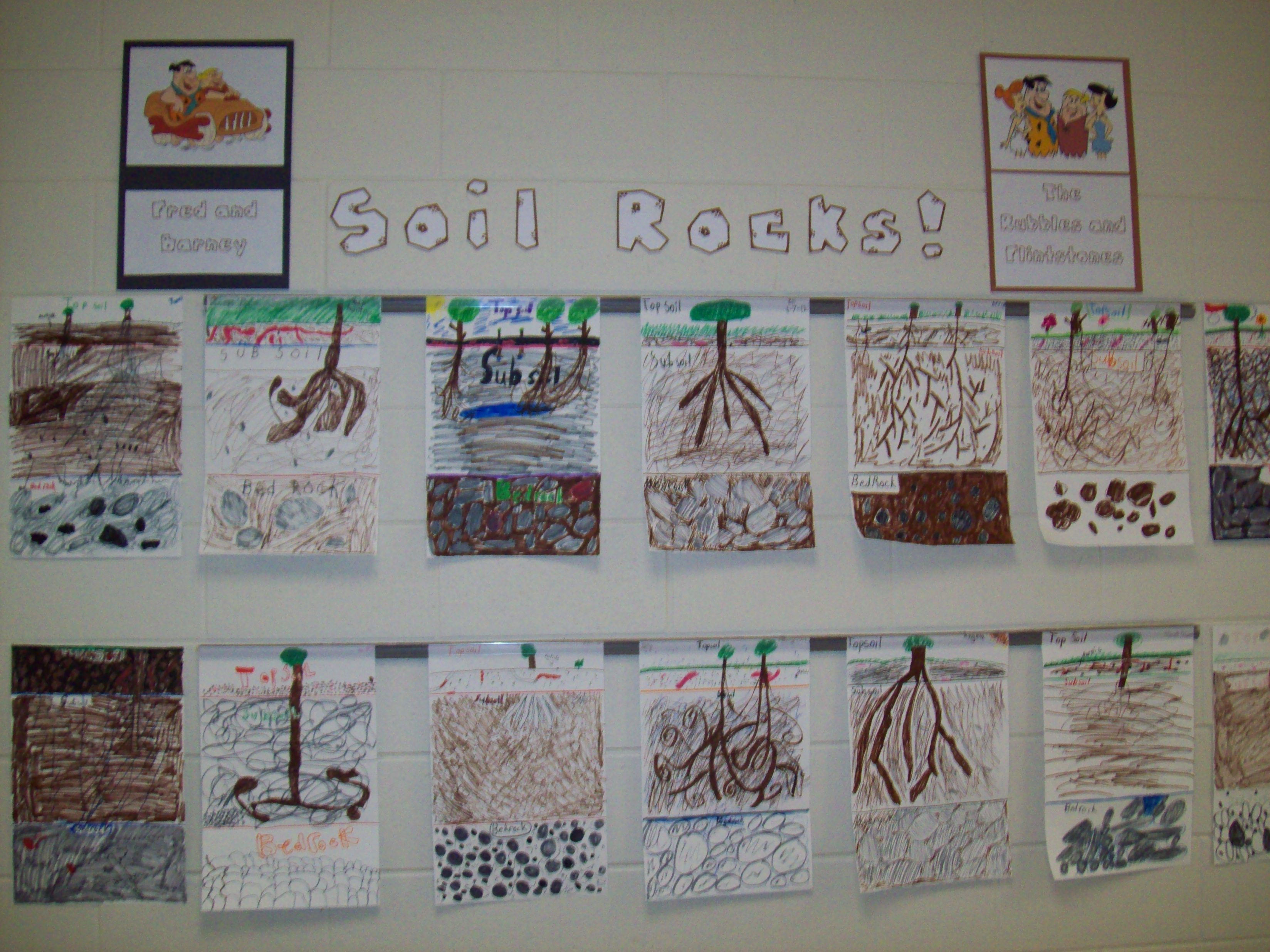 Finished our rock unit with this great poster on the 3 for Words to describe soil