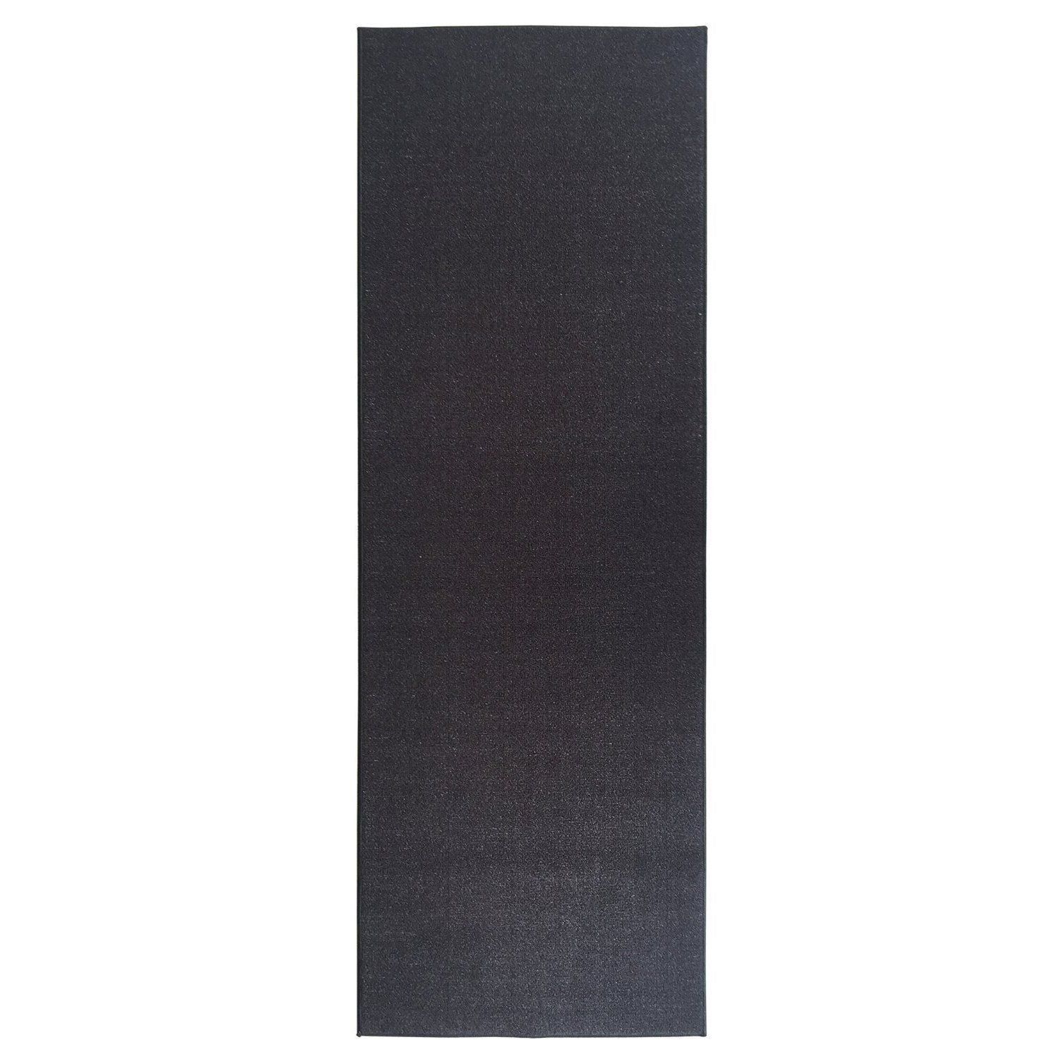Ottomanson ottohome collection carpet black solid runner rug with