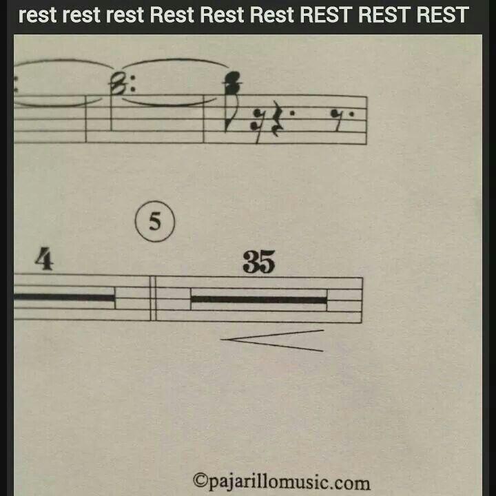 Who Puts A Crescendo Under A 35 Measure Rest O O Music Humor Music Puns Band Jokes