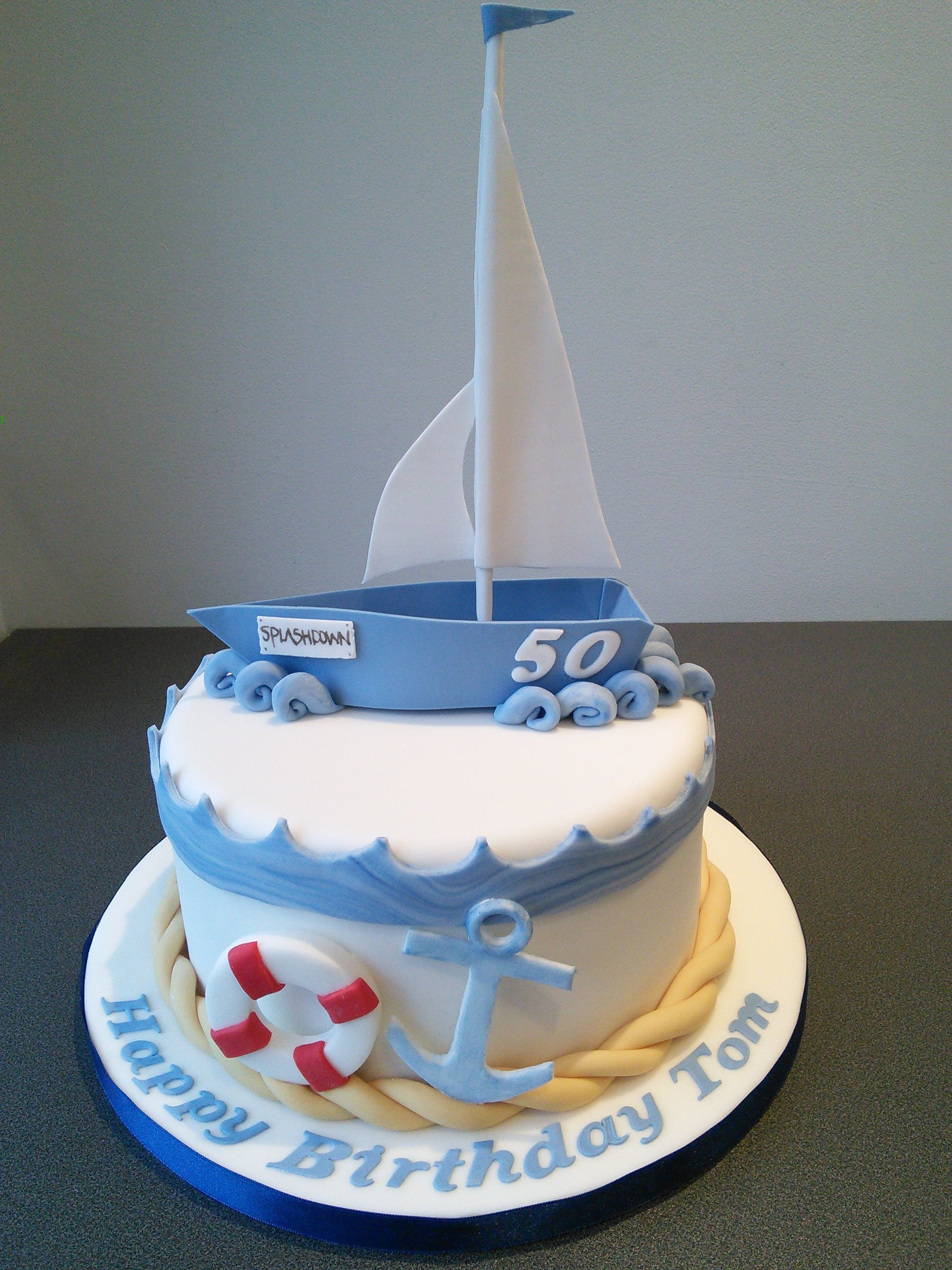 Sailing Boat Birthday Cake Wow Pinterest Sailing Boat