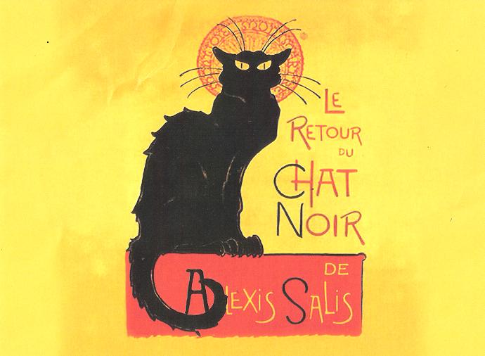 Le Chat Noir Jazz Performace Venue Cat Art Poster Prints Vintage Posters