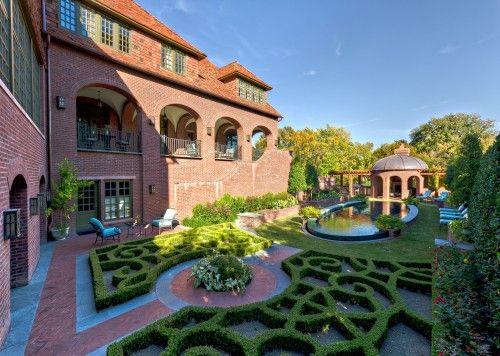 Private Residence English Tudor Estate Garden