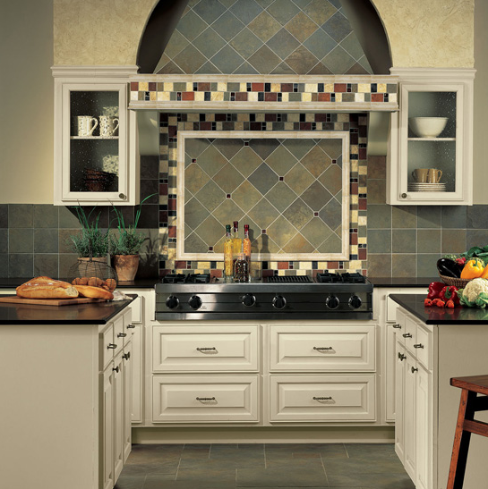 Dark Blue And Gray English Grey Tile Floor For Kitchen