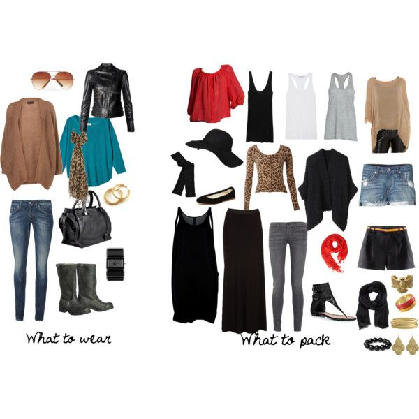 Travel Light / Packing Light, created by sarawatsonim on Polyvore........I think I finally did it. Made a light travel packing list. I think I can get at least 35 mix and match outfits out of this Maybe more, depending on the weather. Not bad:) #travellight #packinglight