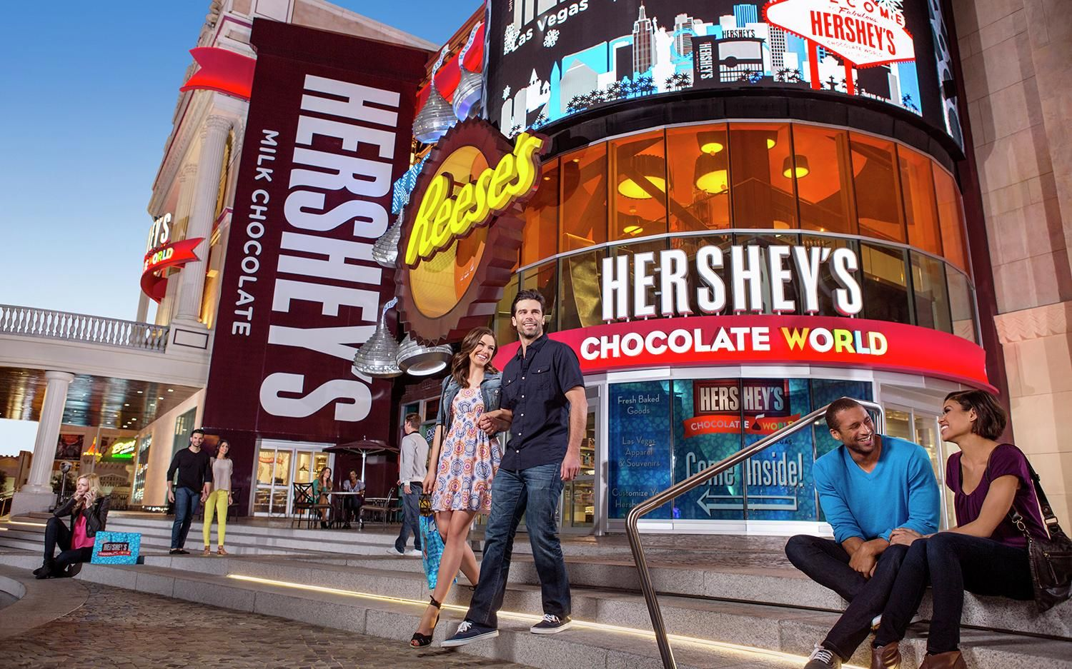 HERSHEY'S CHOCOLATE WORLD Las Vegas store is a twostory