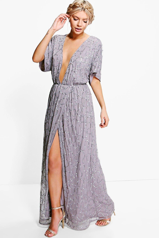 Boutique Sequin Plunge Maxi Bridesmaid Dress Boohoo Uk Plunge Maxi Dress Maxi Dress Glam Maxi Dress