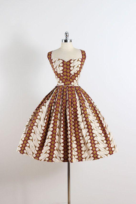 1950\'s Hawaiian Print Dress | Vintage | Pinterest | Nähen ...