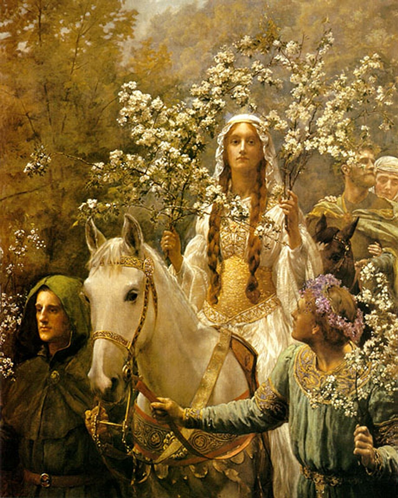 Queen Guinevere, Maying ~ John Collier