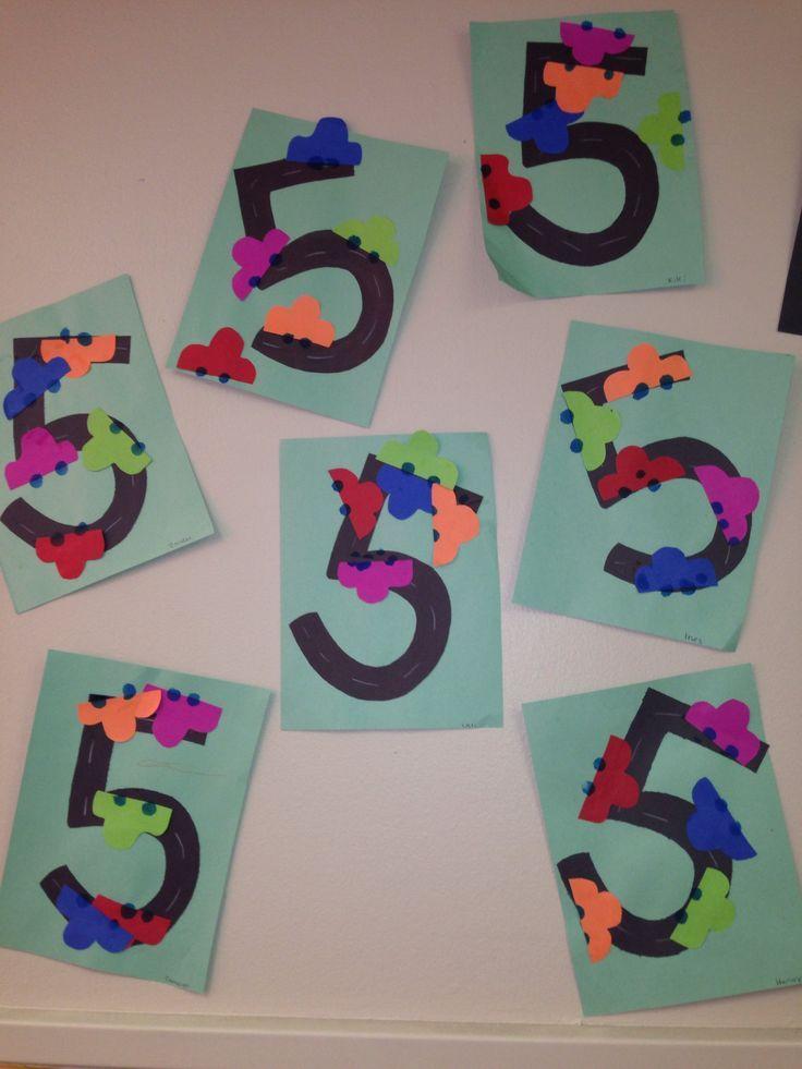 Number 5 Craft Idea Crafts And Worksheets For Preschool Toddler