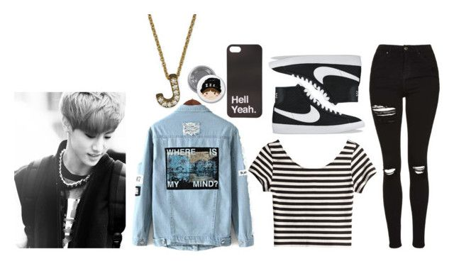 """""""[Jacey] Make things right"""" by deaththeghoul ❤ liked on Polyvore featuring H&M, Topshop, NIKE and Roberto Coin"""