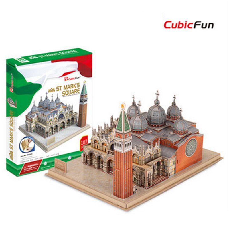 Educational 3D Puzzle Cubicfun MC209h Plazza San Marco Architecture ...