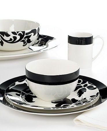 Martha Stewart Collection Black \u0026 White dinnerware. LOVE them!  sc 1 st  Pinterest & Martha Stewart Collection Black \u0026 White dinnerware. LOVE them ...